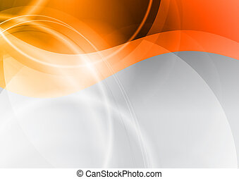 abstract wave - orange wave on the abstract background