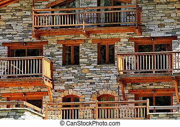 chalet and windows