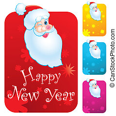 Santa Clause - New years cards with Santa Clause