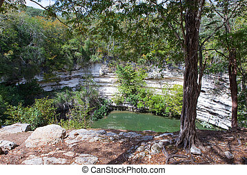 Yucatan, Mexico. Sacred cenote at Chichen Itza