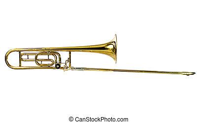 tenor, trombón, horizontal