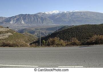 views of Sierra Nevada in Granada province