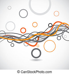 Vector lines and circles abstract background, illustration