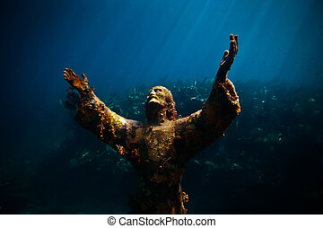 Christ of the Abyss - Underwater statue in key largo, FL