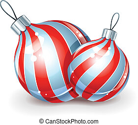 christmas ball for firtree decoration vector illustration...
