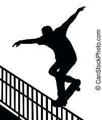 Skateboarding Nosegrind Rail Slide - Skateboarding Skater do...