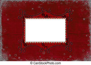Christmas red frame