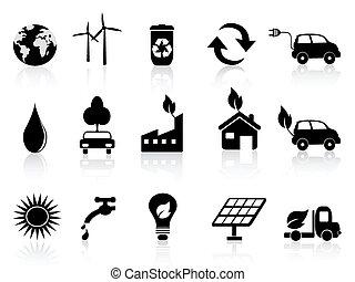 noir, eco, icône
