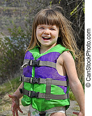 Cute 3 Year Old Caucasian Girl Smiling and Muddy in Life...