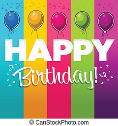 Happy Birthday Illustration - Vector colorful greeting...