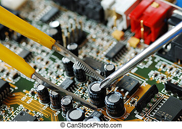 Repair a computer - Repair of the circuit board in a...