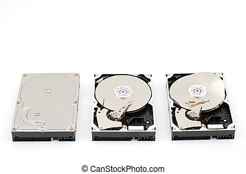 Hard disk drive - Opened and destroying and normal hard disk...