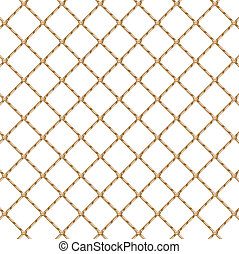 Rope net transparent - Rope net isolated over white...