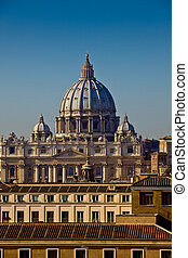 Vatican Dome - photo of the roman vatican dome taken by day...