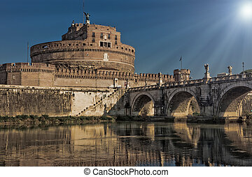 Saint Angels Castle in Rome - photo of the famous saint...