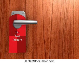 do not disturb on hotel door