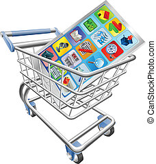 Phone in shopping cart