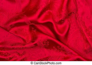 Red silk - abstract textile background