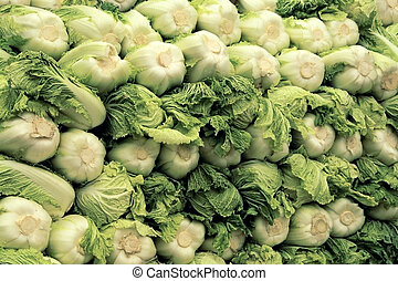 Chinese cabbage - Big stack of Chinese cabbage, named...