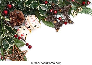 Jingle bell Christmas frame - Christmas border with jingle...
