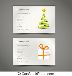 Set of Simple vector christmas cards
