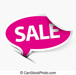 Vector pink Sale speech bubble