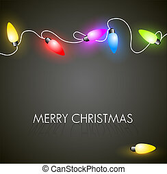 Vector Christmas background with colorful lights - Vector...
