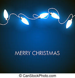 Vector Christmas background with white lights