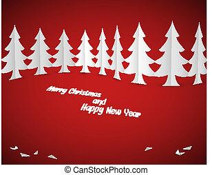 Simple vector christmas card