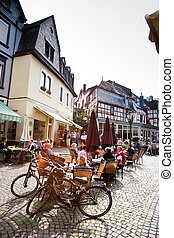 market place an frame house from the medieval times in...