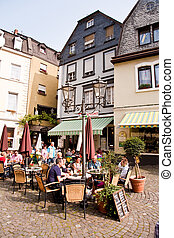 market place an frame house from the mediaeval times in...