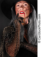 Scary witch - A portrait of a scary witch looking at you...