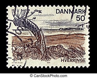 Postage stamp - Denmark-CIRCA 1974:A stamp printed in...
