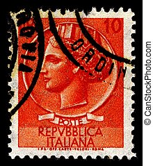 Postage stamp. - Italy-CIRCA 1968:A stamp printed in Italy...