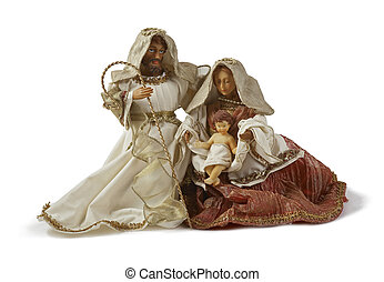 Christmas Nativity scene Holy family - Nativity scene, holy...