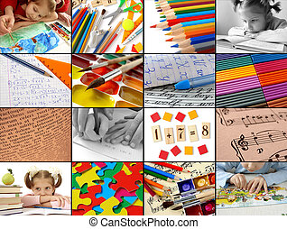 educational collection - back to school concept collage
