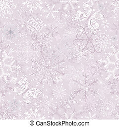 Gentle pink seamless Christmas pattern - Gentle pink pastel...
