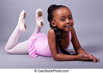 lindo, poco, africano, norteamericano, niña,...
