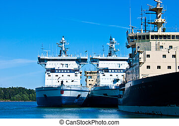 Icebreaker of Helsinki - fleet of icebreaker of Helsinki in...