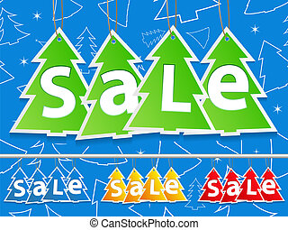 Christmas Sale, vector illustration