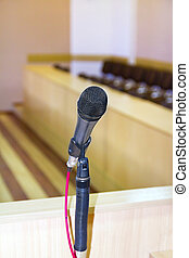 microphone at the podium