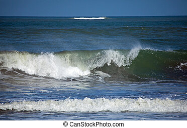 Waves Breaking on Gambia shore