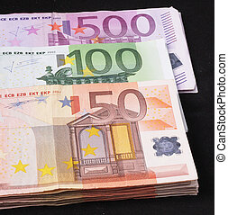 wads  - Wads of 50, 100, 500 Euro bills