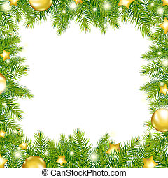 Christmas Background With Christmas Tree, Vector...