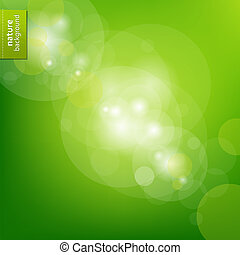 Green Eco Background With Blur