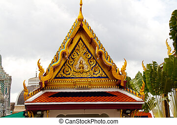 Detail of Grand Palace in Bangkok, Thailand