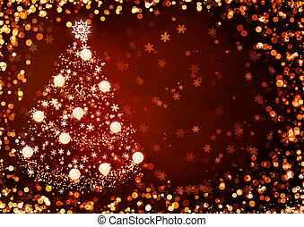 Christmas background - Horizontal background of red color...