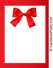 Greeting card - Blank Greeting card white isolated on red...