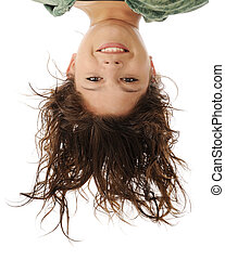 Upside-Down Portrait - A head portrait of an attractive...