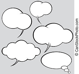 vector set of comics style speech bubbles